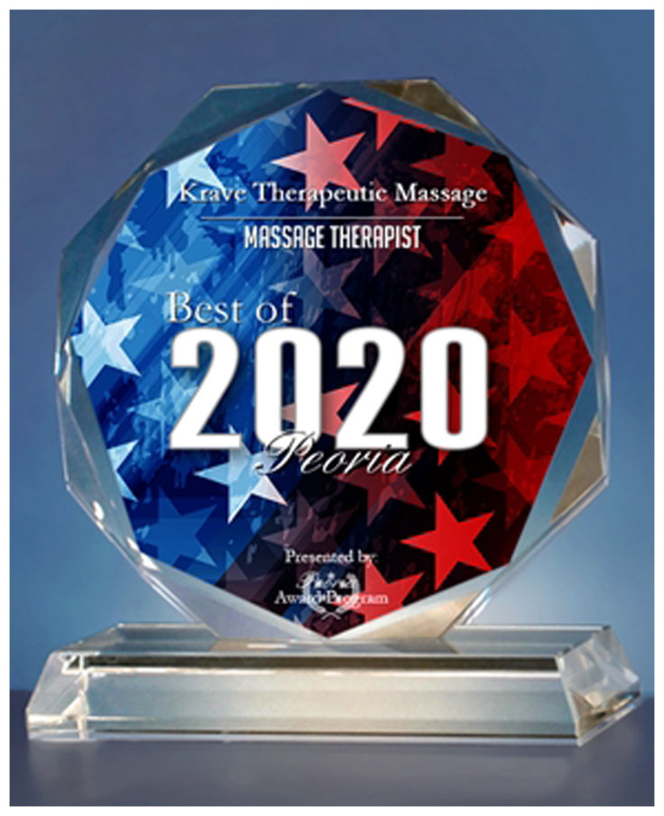 Best of 2020 Peoria Massage Therapy Award